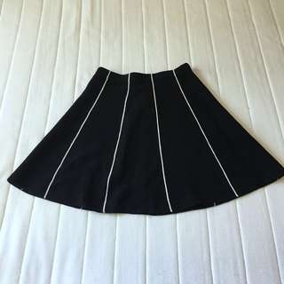 Black & white stripe zara skirt