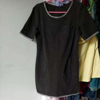 Denim Black Super Comfy Dress