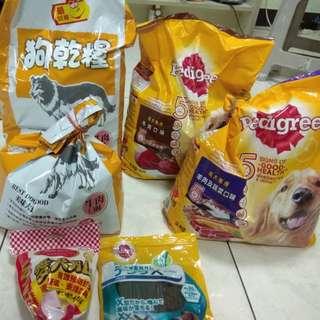 送狗飼料*4袋+潔牙食品*2