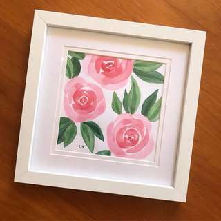 Watercolour Rose Painting
