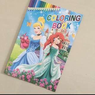 $1.2+ Disney Princess Colouring Book