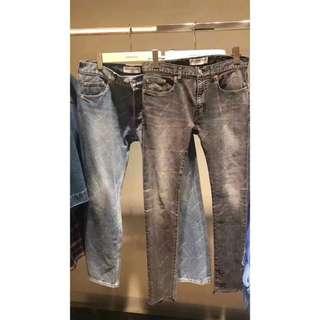 正品♥️Balenciaga SS18 logo 牛仔褲