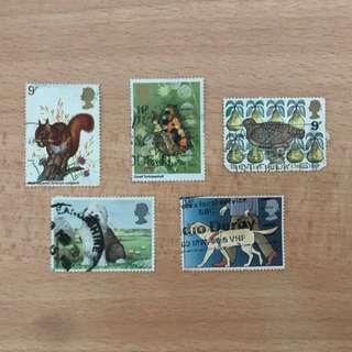 UK Stamps | animal series