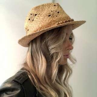 Women's Ripcurl Straw Fedora Hat