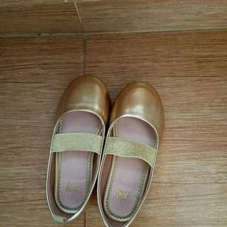 H&M gold doll shoes