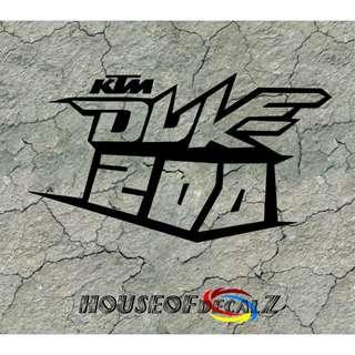 Diecut KTM 200 Vinyl Decal No Background