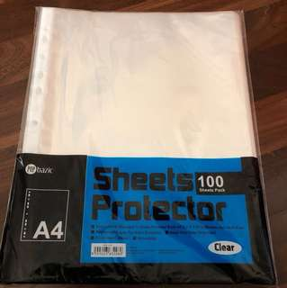 Brand New A4 Sheets Protector. Clear. 100 pcs