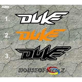 Diecut DUKE KTM Vinyl Decal No Background