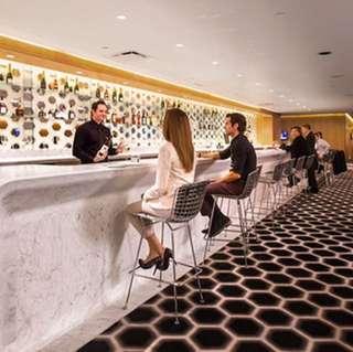 Qantas first class business club lounge pass