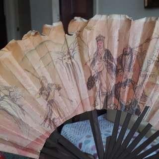 vintage hand fan of gods
