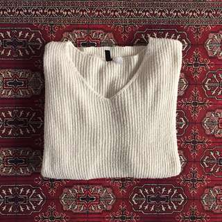 H&M White Jumper