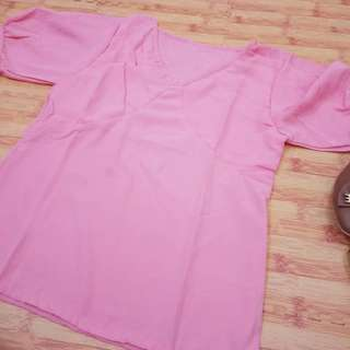 {New} Blouse twist pink sale