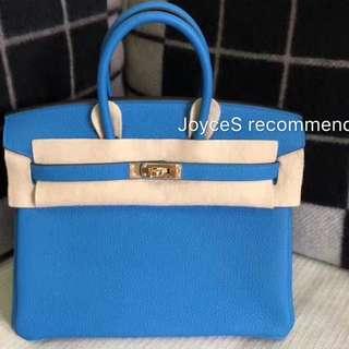 (New) Hermes Birkin 25 Zanzibar Blue 靚色