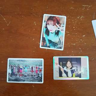Twice photo card