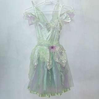 迪士尼Tinkerbell公主雪紡裙