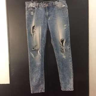 Penshoppe Denim Tattered Jeans Size Small/Medium