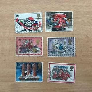 UK stamps | Christmas series