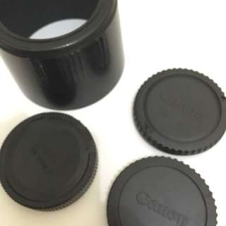 Lens hood & tutup belakang lensa