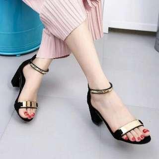 Sepatu Wanita Heels Platform Mano HEF07BK&PK