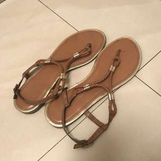 Payless Brown Leather Sandals