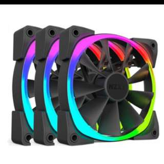 NZXT HUE+ Aer 3 120mm fans with controller