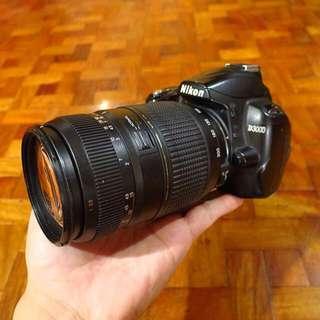 Nikon D3000 with Tamron 70-300mm f/4-5.6 lens