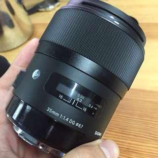 Sigma 35mm f/1.4 DG ART (Canon Mount)