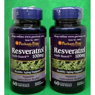 Resveratrol 100mg 60 softgel