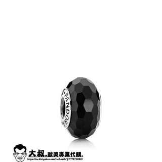 【大叔歐美代購】 Pandora 潘朵拉 黑色切面銀珠 琉璃珠 925純銀珠子 美國正品代購 !可分期!