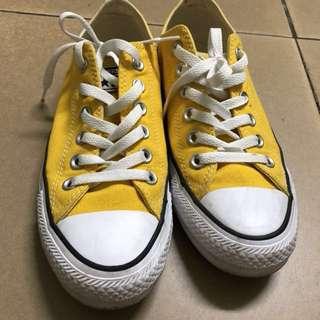 Converse 帆布鞋黃色 (24號)