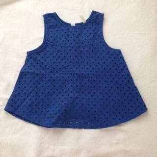 Blue kashicca top