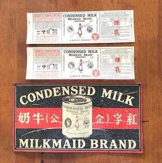 Milk maid Advertisement Plate