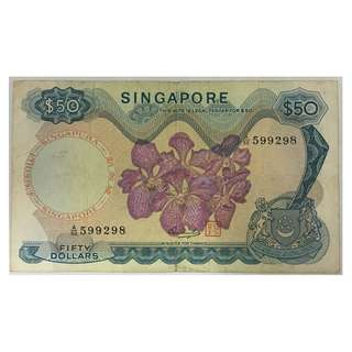 Singapore Orchid Series $50 Note