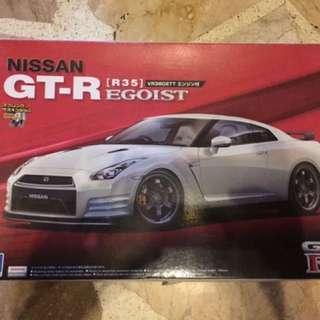 Aoshima Nissan GTR R35 model kit