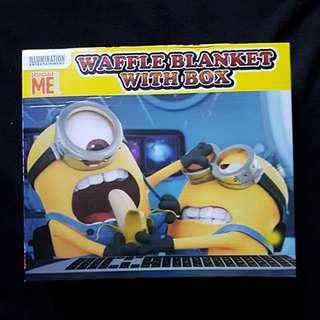 Minions - Waffle Blanket in Box