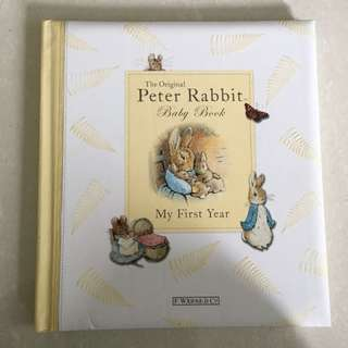 Peter Rabbit My First Year Baby Book
