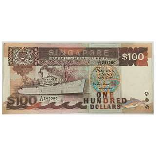 Singapore Ship Series $100 Note