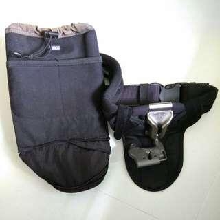 Thinktank waist holster with spigen dslr holster