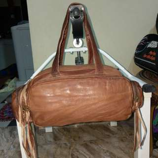 Duffle Bag Leather Macher
