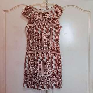 Love Culture Brown Aztec Dress