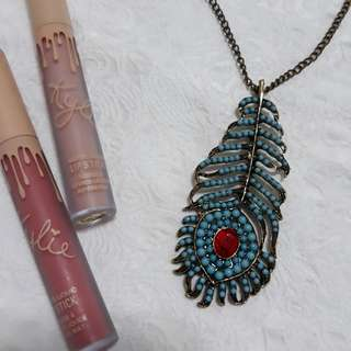 Peacock Feather Vintage Necklace