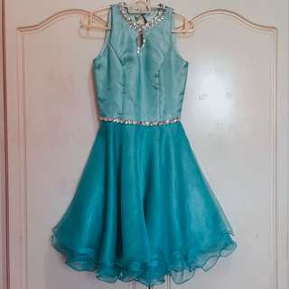 NEGOTIABLE! Teal Cocktail Party Dress