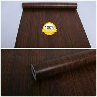 Wallpaper sticker coklat triplek