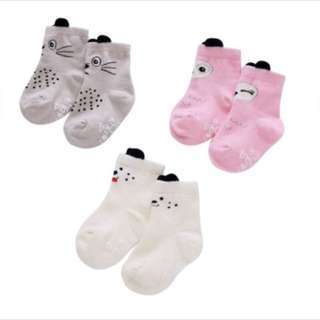 3 pcs set Baby Socks animal socks