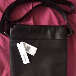 CK leather Messenger Bag