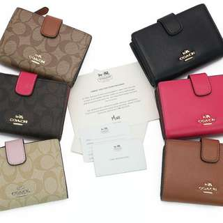 Dompet Coach Folio Zip Corner Leather PF53436 (KULIT)