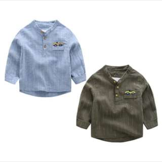 Boys Shirt baby boy kids infant toddler smart casual top