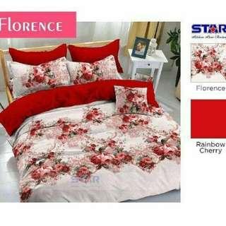Sprei Katun Star Florence termurah ukuran 160x200x20