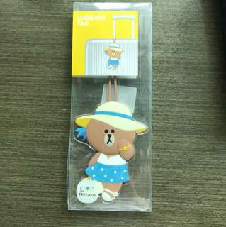 Line Friends luggage tag 行李牌
