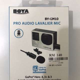 Boya mic for gopro hero 4